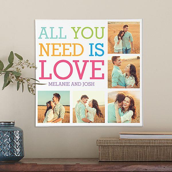 Love Photo Collage Canvas
