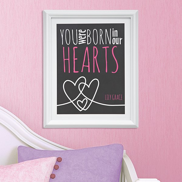 In Our Hearts Framed Print