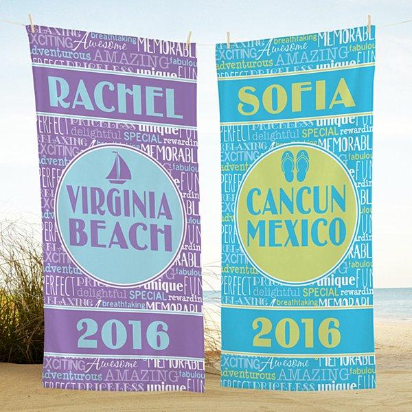 Splash of Memories Beach Towel