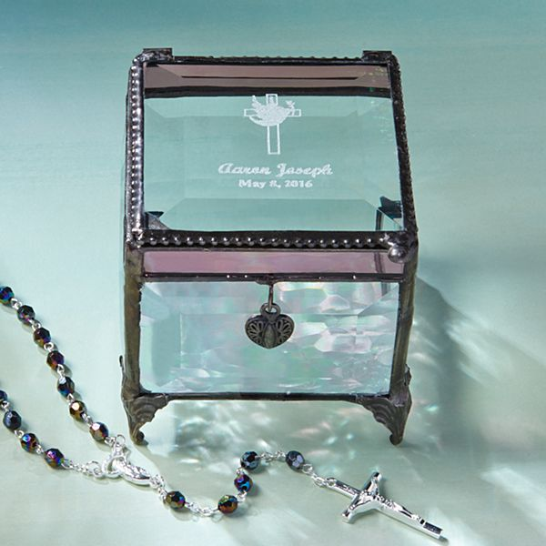 Holy Confirmation Glass Blessings Box