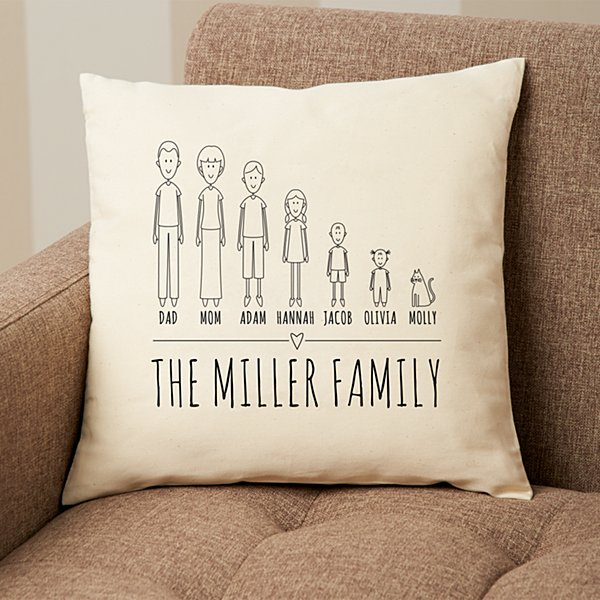 Cast of Characters Family Pillow