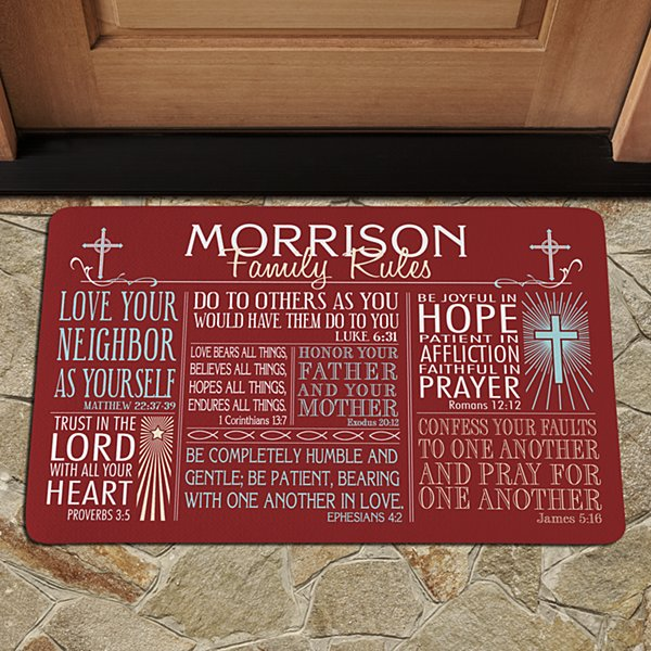 Rules of Faith Doormat