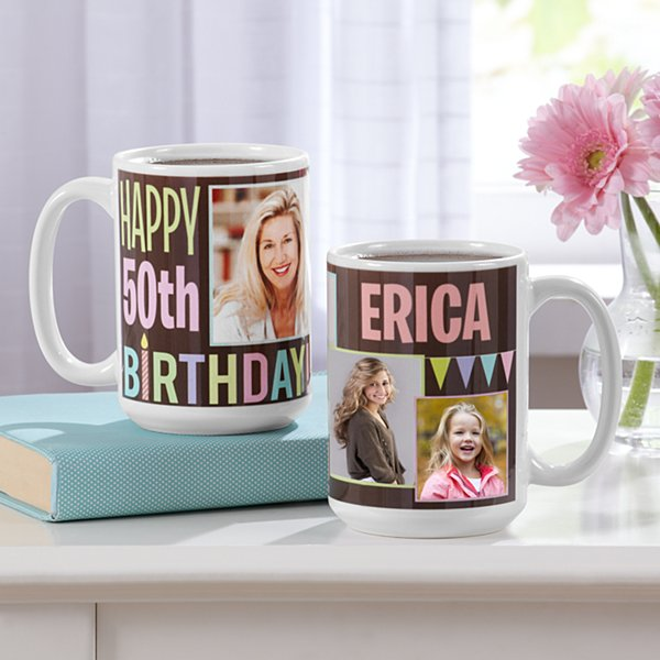 How Time Flies Photo Birthday Mug