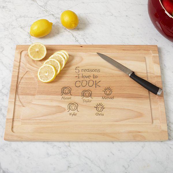 Reasons Why™ Wood Cutting Board