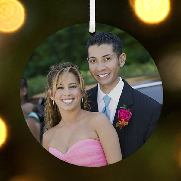 Round Photo Couple Ornament