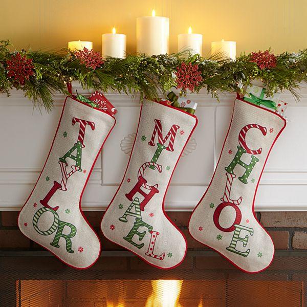 Festive Name Christmas Stocking
