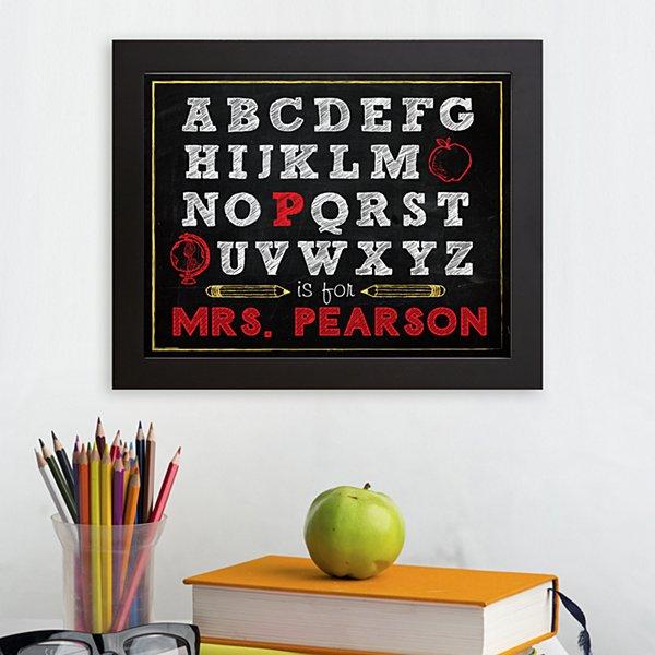 Alphabet Teacher Framed Print