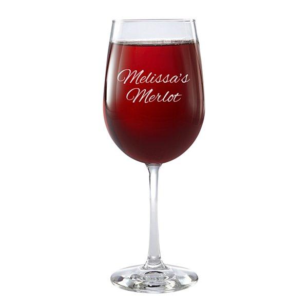Create Your Own Stemware Wine Glass - Single - Message - Script
