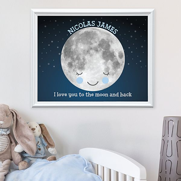 Love You To The Moon Framed Print