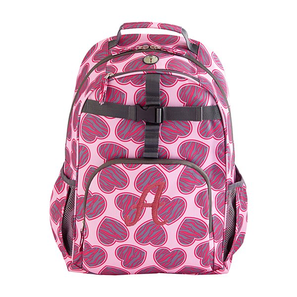 Playful Print Zebra Hearts Backpack Collection