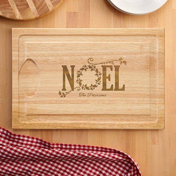 NOEL Holiday Wood Cutting Board