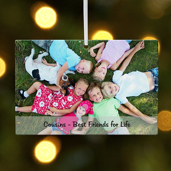 Kids Photo Message Rectangle Ornament