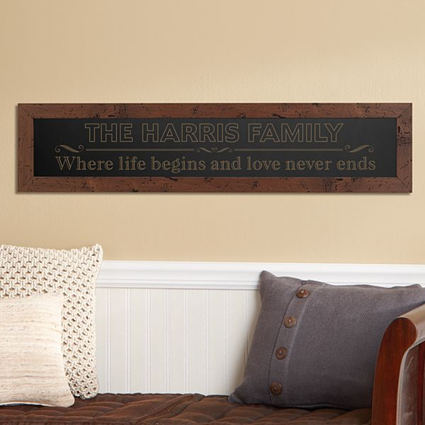 Where Life Begins Framed Wood Sign