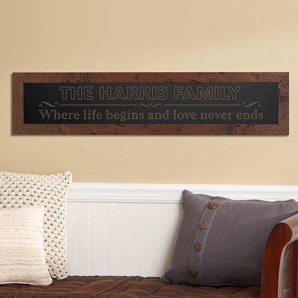 Where Life Begins Framed Wood Sign