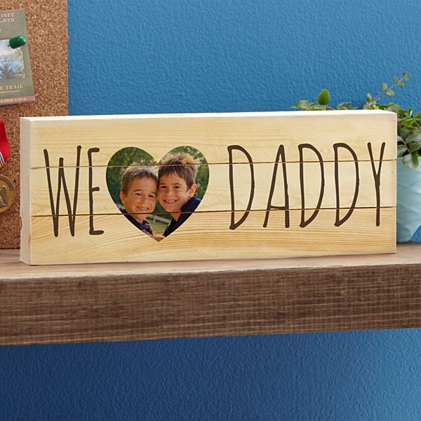 I/We Heart Photo Mini Wood Pallet