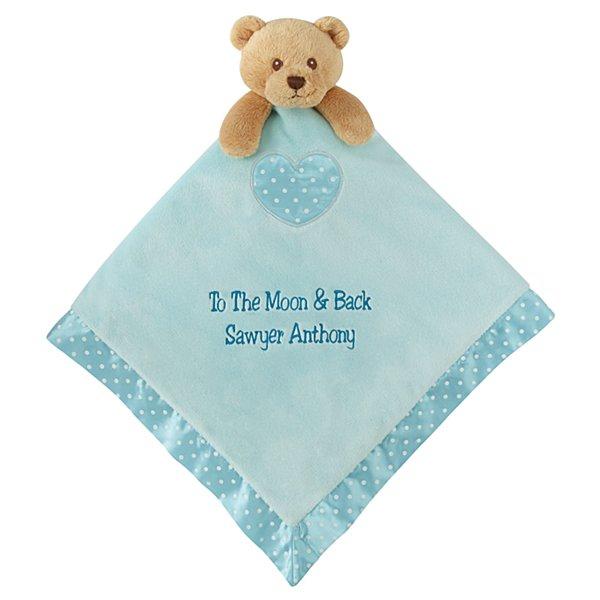 Baby's Best Friend Bear Blanket - Blue