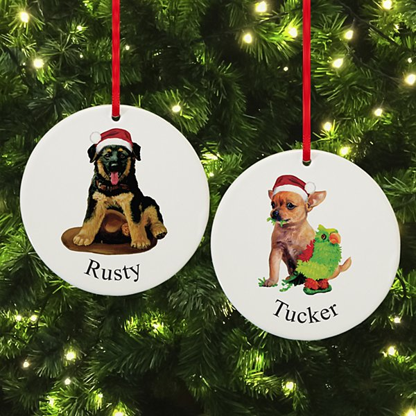 Dog Breed Puppy Round Ornament