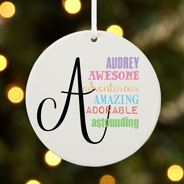 All About Her Round Ornament