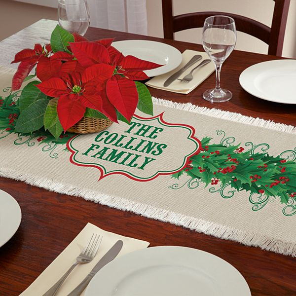 Happy Holly Table Runner