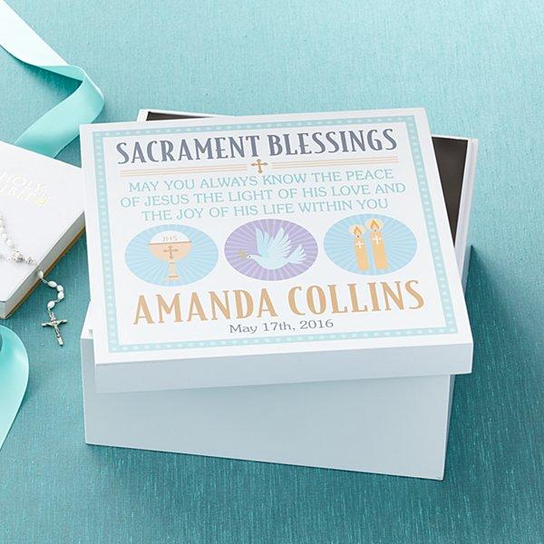 Sacrament Blessings Keepsake Box