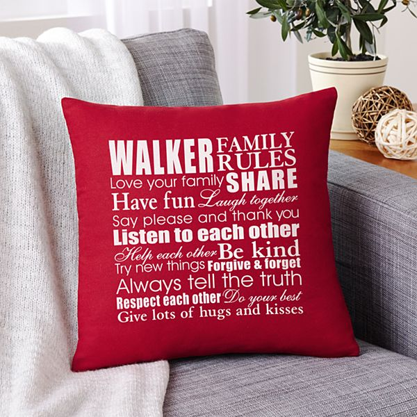 Family Rules Pillow