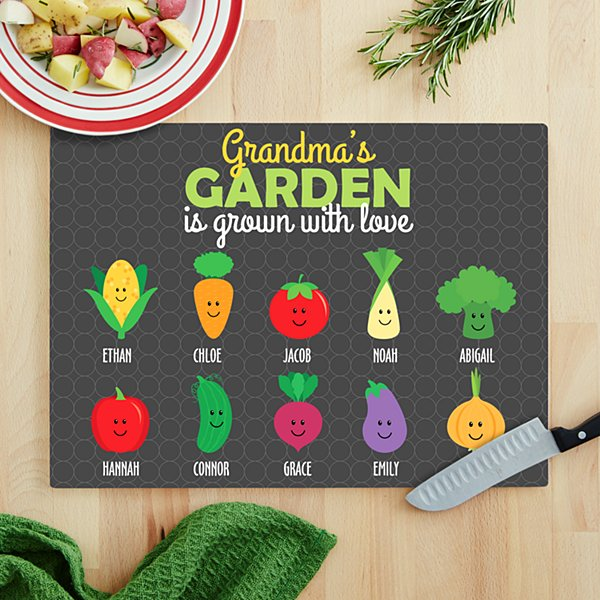 Garden Full Of Love Glass Cutting Board
