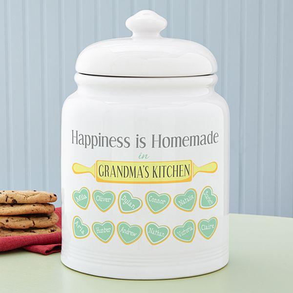 Happiness is Homemade Treat Jar