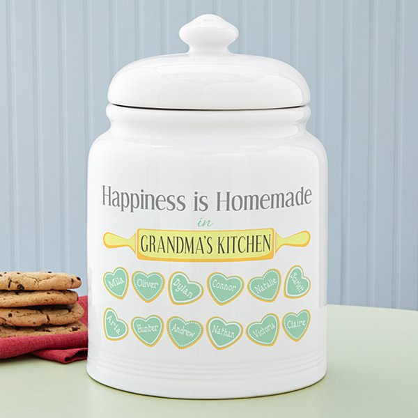 Happiness is Homemade Treat Jar