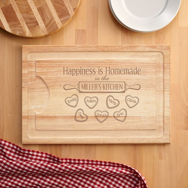 Happiness is Homemade Wood Cutting Board