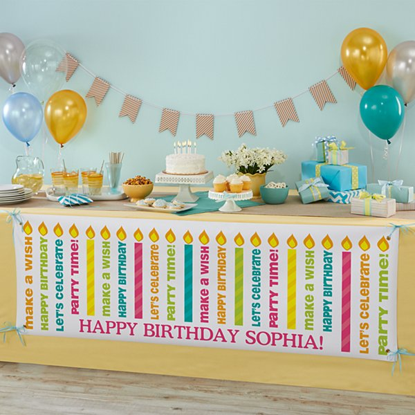 Light The Candles Birthday Banner