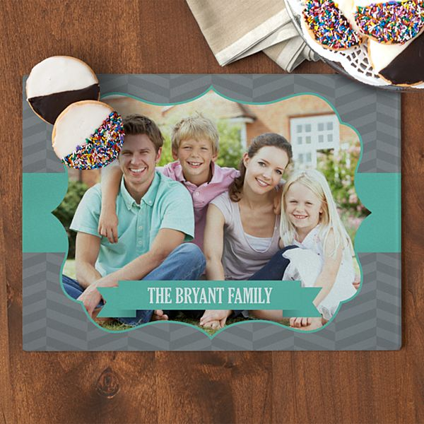 Photo Message Glass Cutting Board