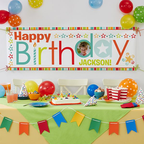 Stars & Wishes Birthday Photo Banner