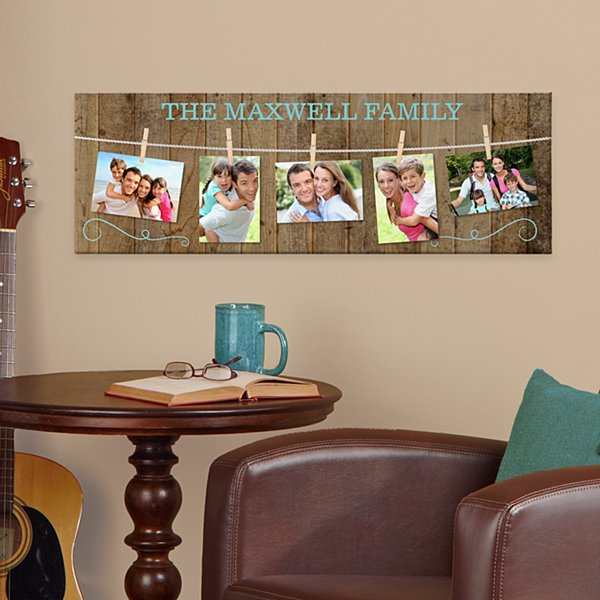 Hang On To Love Family Photo Canvas