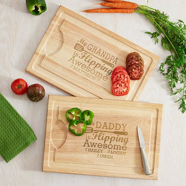 Flipping Awesome BBQ Cutting Board