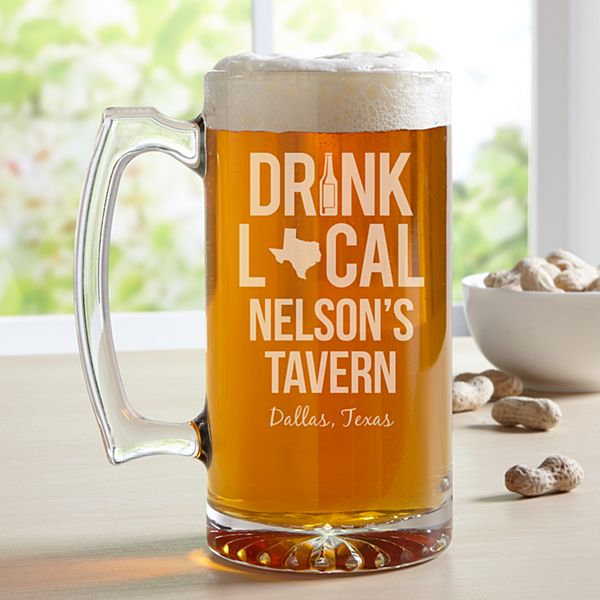 Drink Local Oversized Beer Mug