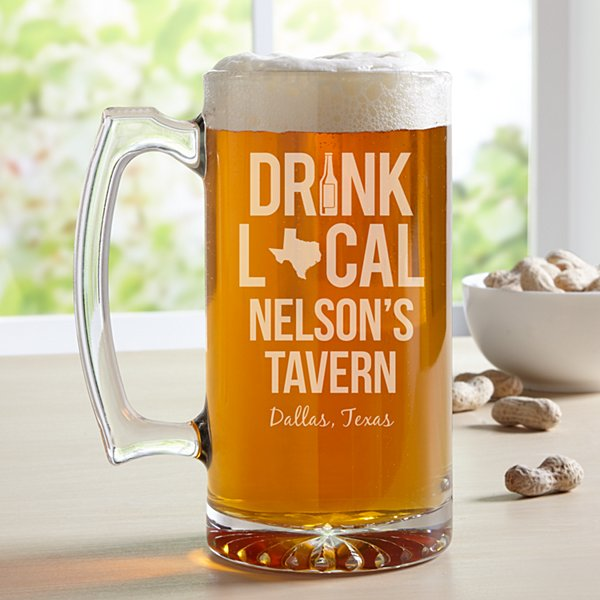 Drink Local Oversized Beer Mug