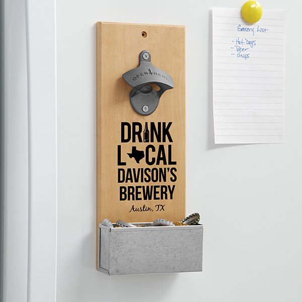 Drink Local Wall Bottle Opener