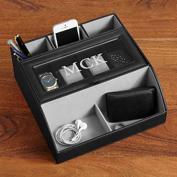 Leather Charging Station Valet