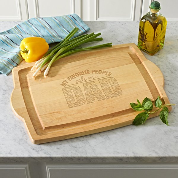 My Favorite People Oversized Wood Cutting Board