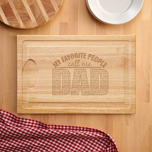 My Favorite People Wood Cutting Board