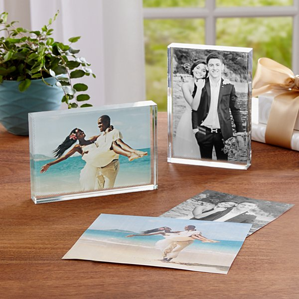 Mr. & Mrs. Photo Keepsake Block