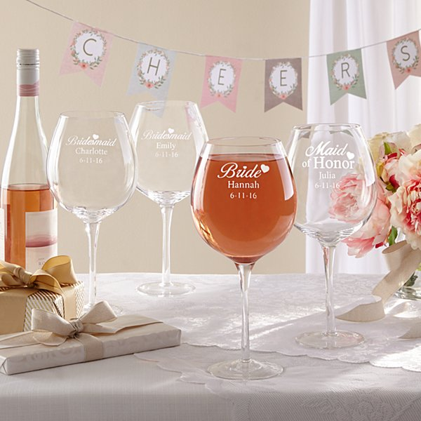 Bridal Party XL Wine Glass