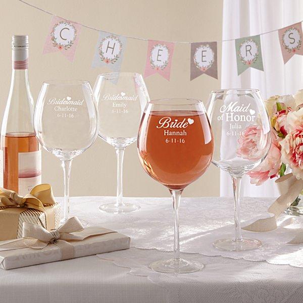 Bridal Party XL Wine Glass