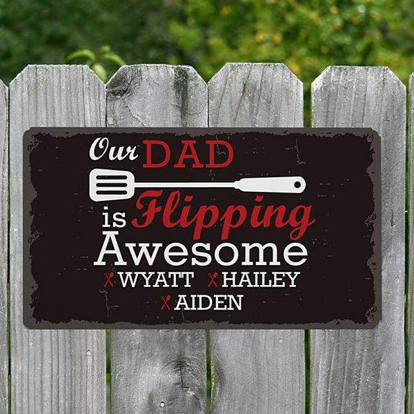 Flipping Awesome Metal Sign
