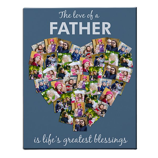 From the Heart Photo Canvas - Blue 18x24 - 10 Photos