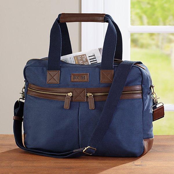 Canvas & Leather Messenger Bag