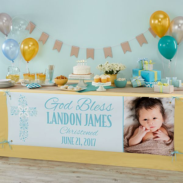 Baptism Celebration Photo Banner