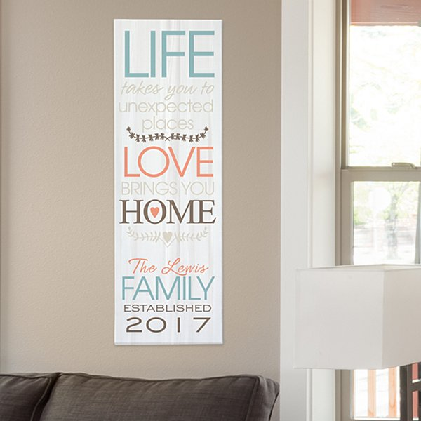 Love Brings You Home Canvas