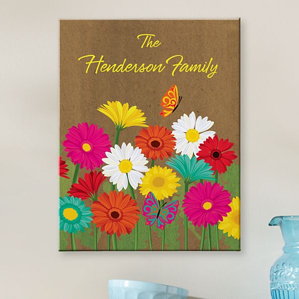 Spring Flowers Canvas