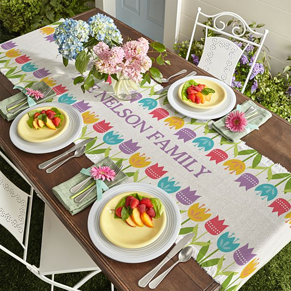 Spring Tulip Table Runner